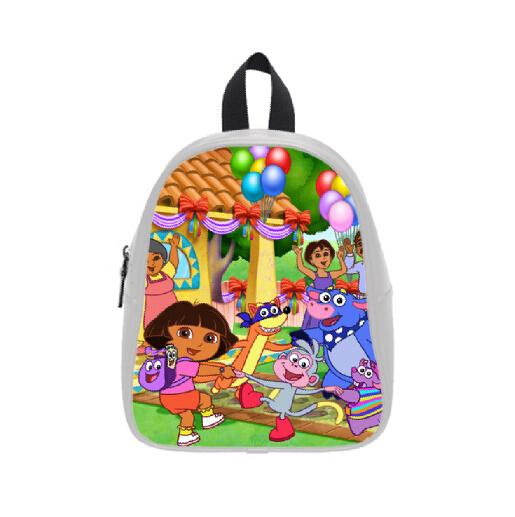 Grátis frete venda quente aquarela mochilas sob encomenda à moda Dora the Explorer saco de escola para meninos meninas PC-0357(China (Mainland))