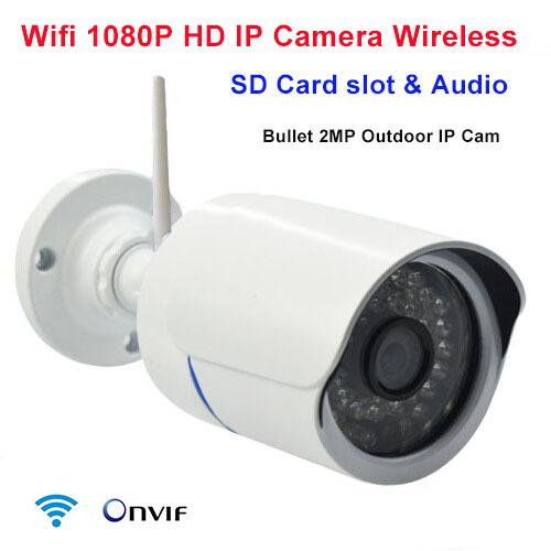IP camera 1080p 2mp wireless security ip cam sd card slot onvif p2p wifi megapixel outdoor waterproof IR infrared HD CCTV camera(China (Mainland))