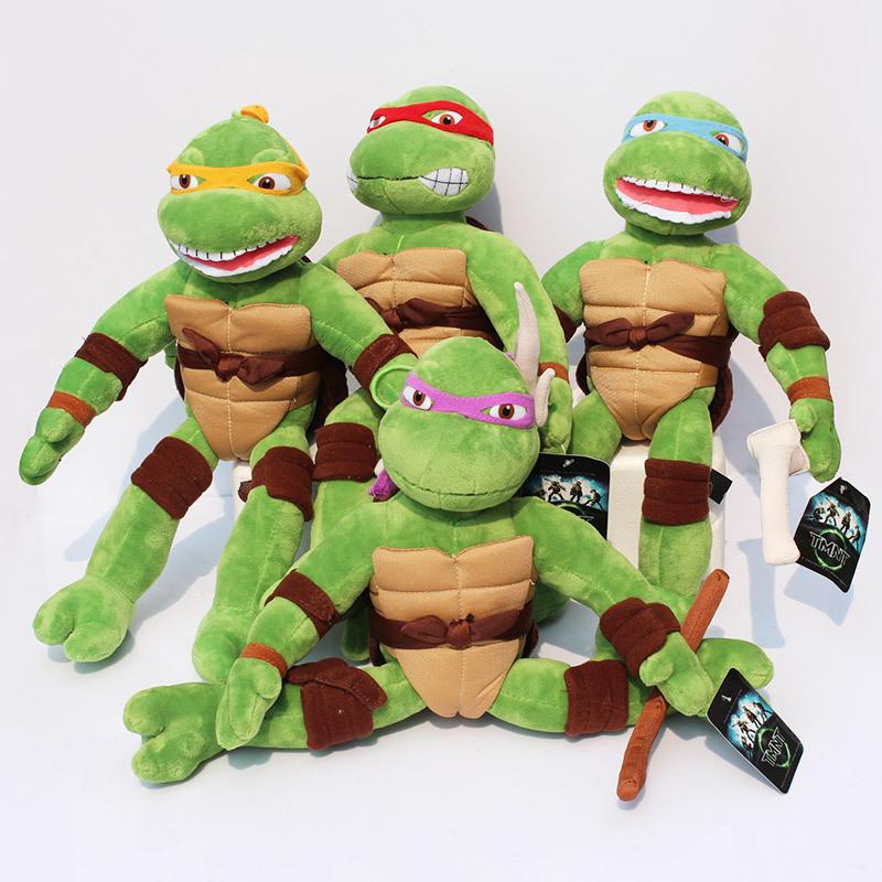 Free shipping 40cm New TMNT the Teenage Mutant Ninja Turtles Plush Toys Movies & TV Toys High Quality(China (Mainland))