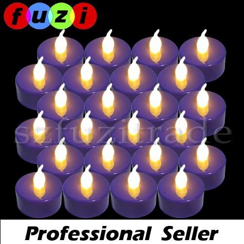 Wholesale 24pcs Flameless Flickering Battery Operated Led Tea Candle Light Set for Wedding Xmas Party Home Decor COMBO1959#2(China (Mainland))