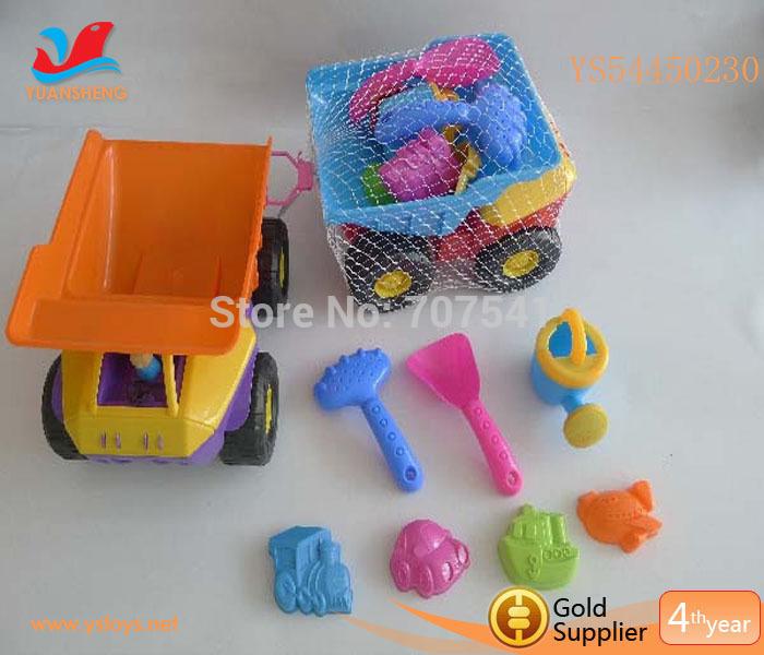 Crazy Selling Plastic Beach Toy Trucks Summer Toy Kids Plastic Sand Shovels(China (Mainland))