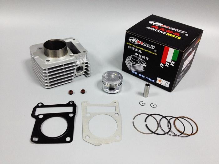 Free shipping NASAKI brand Motorcycle parts YBR125 cylinder / piston / ring / gasket / valve seal / genuine parts cylinder kit(China (Mainland))