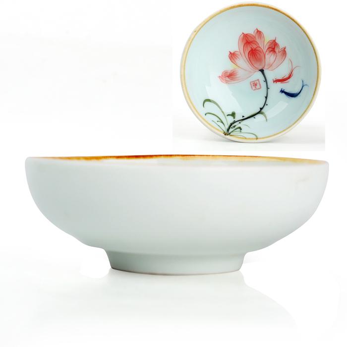 Bone china tea cup set kung fu cup tea set chinese tea cups pu er teacups