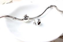 Free Shipping 925 Silver Apple DIY Bead big hole European Beads Fits Silver Charm pandora Bracelets