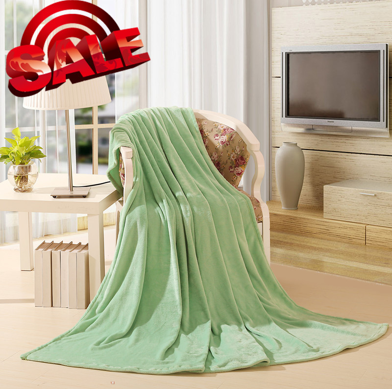 stitch green nylon coral buy MINT BLUE GREEN SOFT SUMMER BLANKETS dyeing bed sheets Nordic style decor BLANKET(China (Mainland))