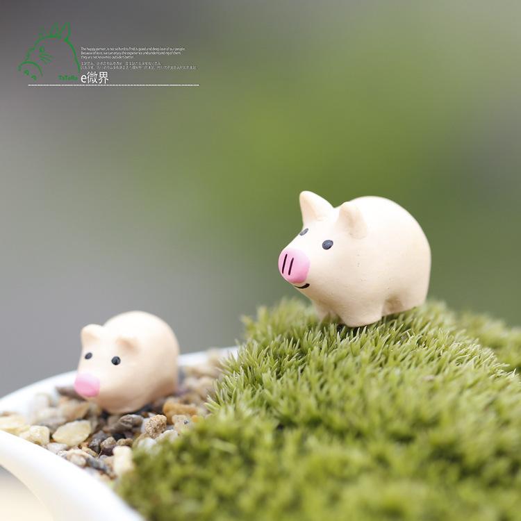 1pcs Mini Mosses Faux Artificial Lawn Handmade DIY Decoration pig doll craft figurine micro landscape(China (Mainland))