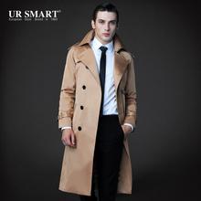 Freestyle 2015 new Slim cut men's long popularity weatherproof coat long coat for men(China (Mainland))