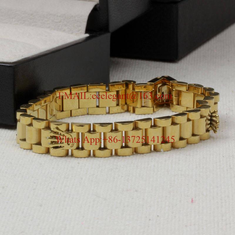 DASB584-6 FreeShipping steel bangles chains platinum/rose/gold crown men and women belt bracelets color elegant fashion bracelet(China (Mainland))