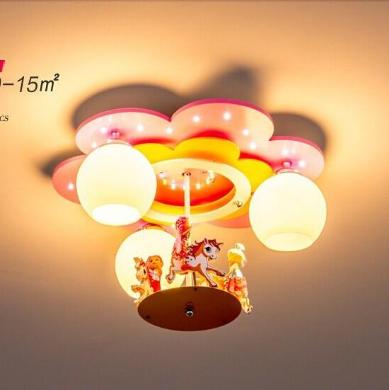 Carousel children's room children's room ceiling lamp chandelier lamp LED lamp nursery bedroom girls room lights lamp(China (Mainland))