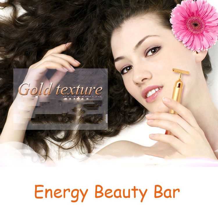 Face Massager stick Facial Roller Skin Care Wrinkle Treatment Energy 24k gold beauty bar Face Relax machine for lady(China (Mainland))