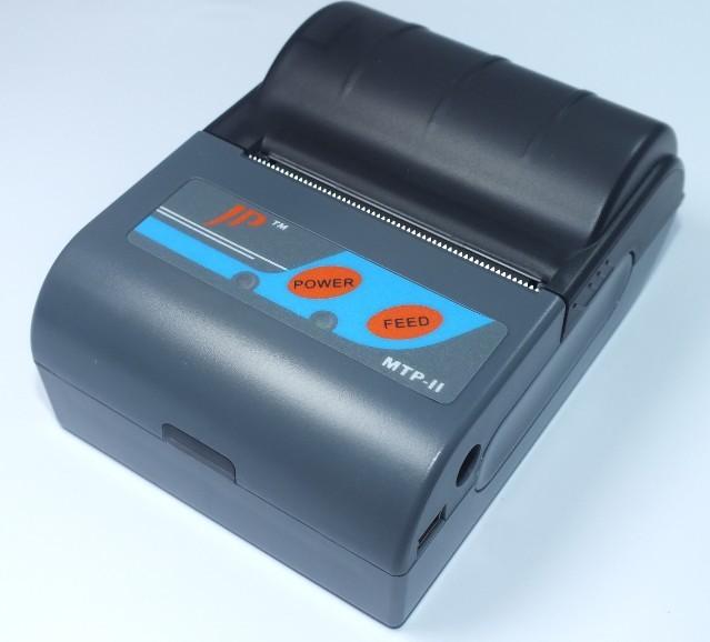 Mini portable Bluetooth thermal printer MTP-II barcode label pos receipt ticket printer printers machine 2 units/lot(China (Mainland))