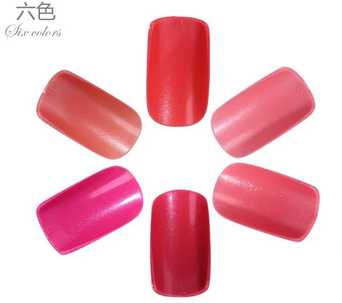 24PCS Pre Design French False Nails full Cover Nail Tips Solid Color SEXY RED Fake nail art decoration Acrylic Finger nail(China (Mainland))