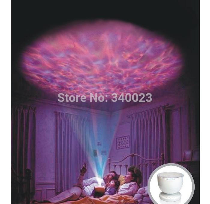 1PC Free shipping! Multicolor Romantic Aurora Ocean Wave Master Projector Lamp LED Light Amazing Speaker Lamp,PL1(China (Mainland))