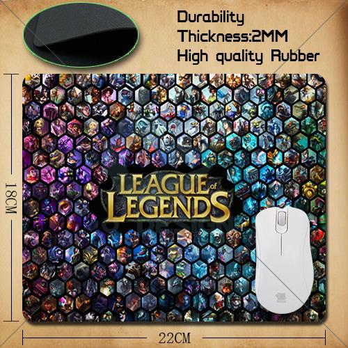 League of Legends LOL whole League pattern Mouse Pad 220*180*2mm of s 2 mouse mat+ Free Shipping(China (Mainland))