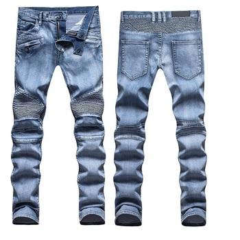 Nwt BP мужская стильный мода стретч тонкий кислоты синий промывали байкер джинсы размер 28-38 ( #1486 )