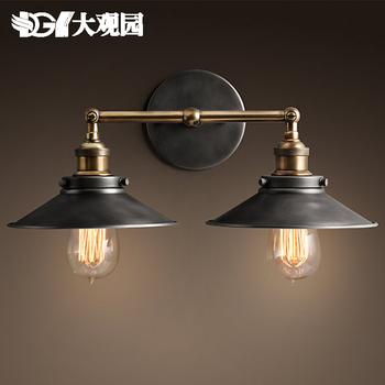 Американский старинные зеркала свет чердак проход двойной настенный светильник держатель e27copper edsion искусства лампы ST64