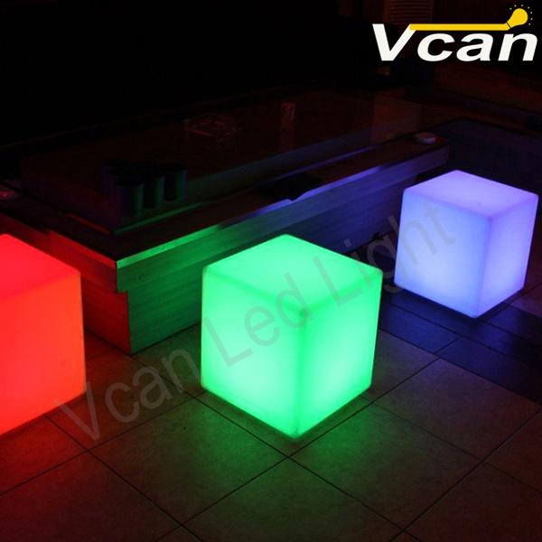 8PCS DHL Free Shipping 10CM LED luminous square night light glowing decorative led cube table light lamp(China (Mainland))