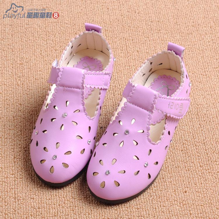 children shoes girls hot sale 2015 spring korean fashion girls sandals princess cut brand child slipper lovely loafer 880a(China (Mainland))