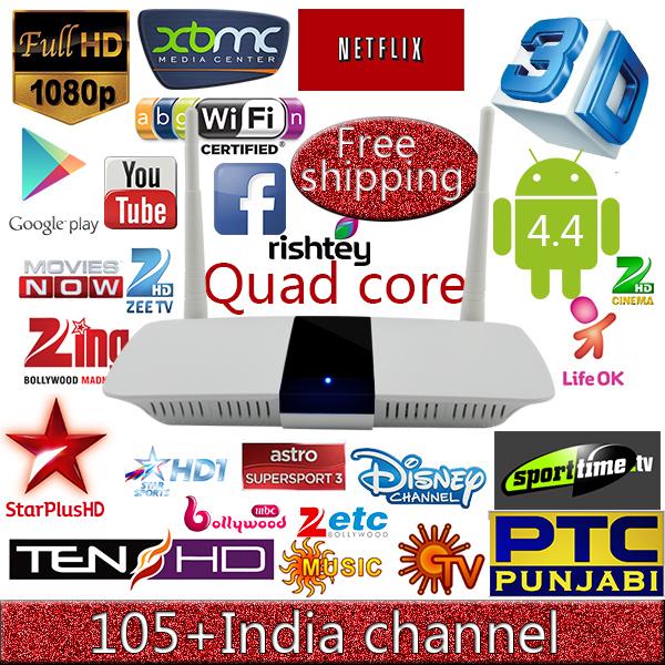 Best Indian iptv box,XBMC tv box, 1G/8G Quad Core Media Player Android tv Box,Full HD 1080P FOX,FX Indian channel Smart TV BOX(China (Mainland))
