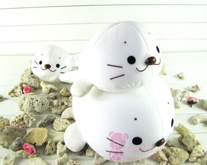25cm nano-particle foam pillow doll, seal stuffed animal toy, sea dog plush pillow, seapard plush baby toy children's day(China (Mainland))