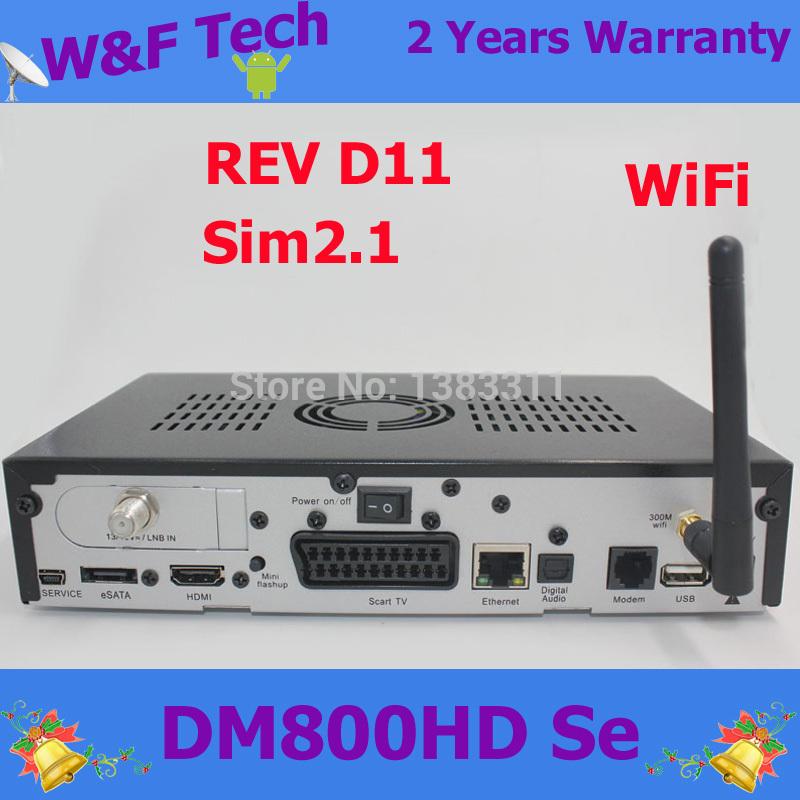 dm800se WIFI DM800 SE With WIFI DM 800SE HD Digital Satellite Receiver Motherland Rev D11 DM800hd se sim 2.1 DHL free shipping(China (Mainland))