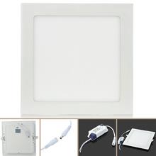 US/UK/ES/GB STOCK!!  2835 LED 1600lm 3500K Warm White LED Panel Light 18W 90~265V Square LED Panel Light   J50C*DA1229(China (Mainland))