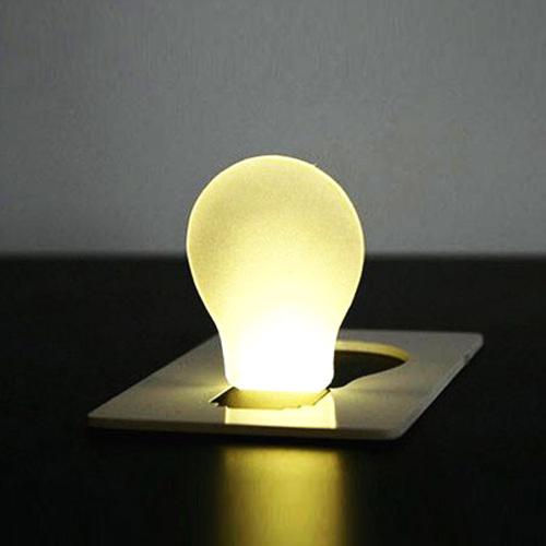 [해외]참신 항목 비상 작은 얇은 휴대용 LED 카드 전구 램프 포켓..