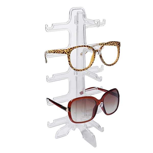 1pcs 5 Layers Simple Convenient Plastic Glasses Eyeglasses Sunglasses Show Stand Holder Fashion Frame Display Rack Free Shipping(China (Mainland))