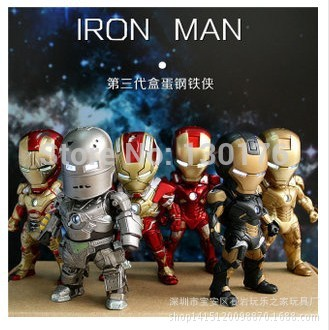 2015 Sale New Unisex 8-11 Years Scale Models Model Kits Toys The 3 Generation Of 6 Iron Man Suit With A C Spot Third Z Boxed Set(China (Mainland))