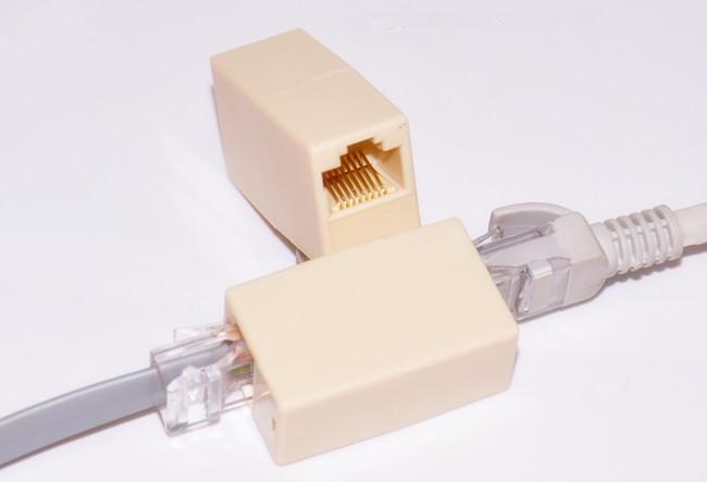10pcs x New Newtwork Ethernet Lan Cable Joiner Coupler Connector RJ45 CAT 5 5E Extender Plug