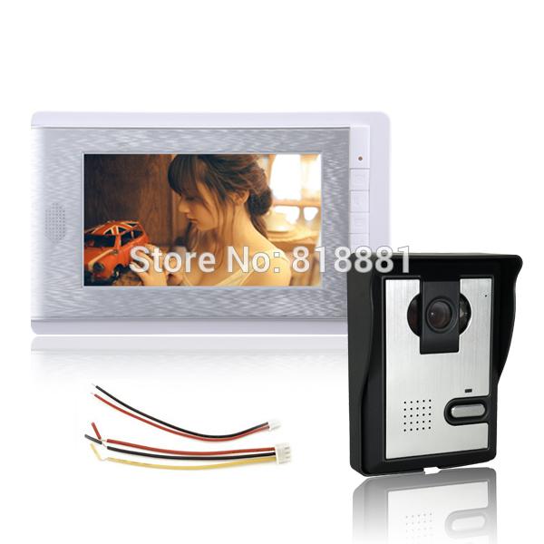 Cheapest 7 inch LCD Home Video Audio Door Phone Intercom Entry System 700TVL Night Vision Camera(China (Mainland))
