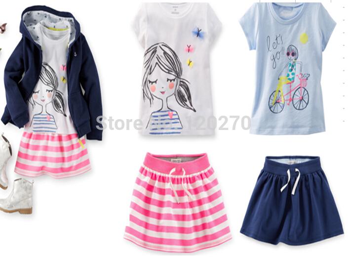 Комплект одежды для девочек + 2T-7T пижама 6set xc 091 2t 3t 4t 5t 6t 7t