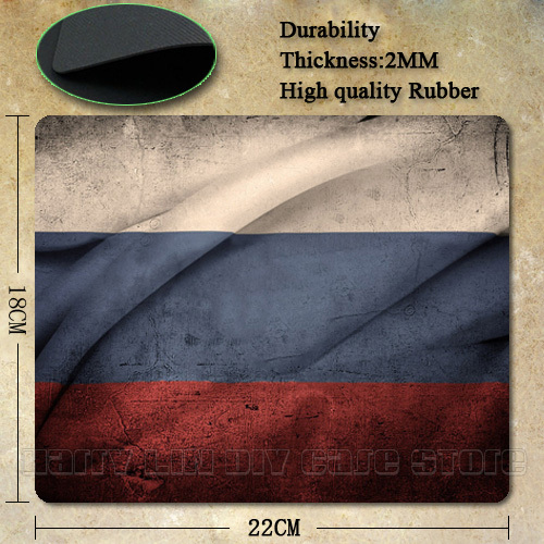 Best Seller Nice Russian Flag Silicon Anti-slip Mouse Mats for PC Computer Laptop Notbook Gaming Mouse Mat(China (Mainland))
