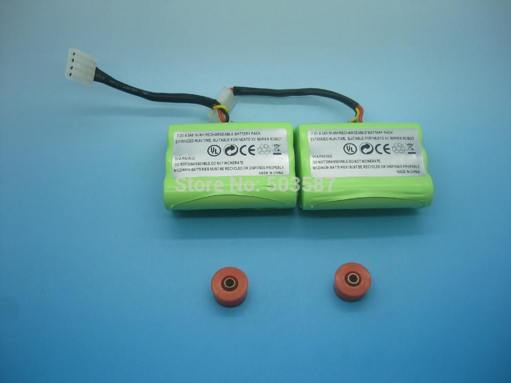 2pcs 7.2V 4.5Ah NiMH vacuum cleaner battery W/ brush bearings for Neato XV-11 XV-12 XV-14 XV-15 XV-21,XV Signature Pro Robotics.(China (Mainland))