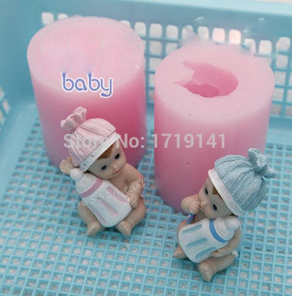 Lovely of doll silicone mold silicon likang food baking chocolate mold sugar mold(China (Mainland))