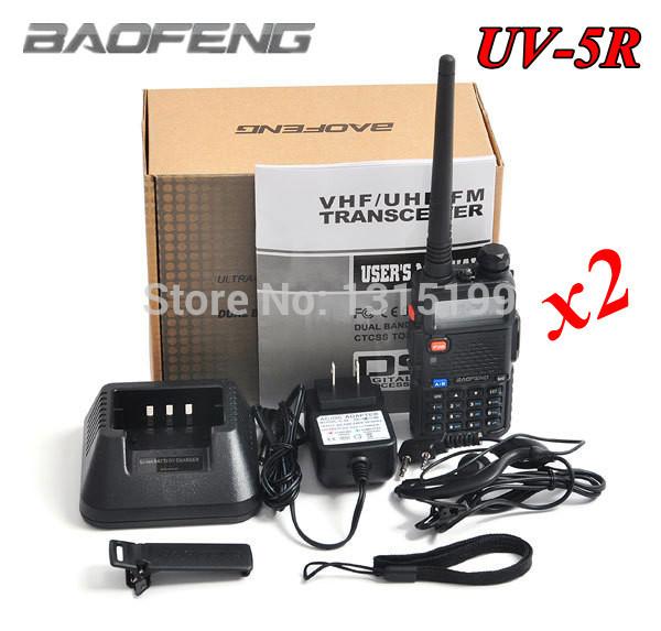 2pcs New Upgraded Version Portable Radio Walkie Talkie Baofeng UV-5R Dual band VHF136-174MHz&UHF400-520MHz Dual display CB Radio(China (Mainland))