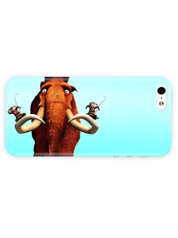 Case for iPhone 5/5S Cartoon - Ice Age Dawn Of The Dinosaurs Fine for Apple Heat Sublimation 3D Full Wrap(China (Mainland))