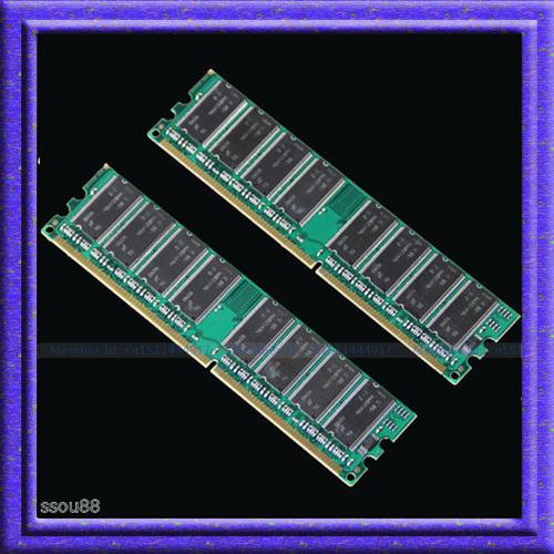 2GB 2x1GB PC3200 DDR400 400MHZ 184pin DDR1 Chipset 400 Mhz Low density Desktop memory CL3 DIMM RAM 2G Free shipping(China (Mainland))
