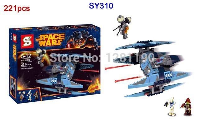 SY310 221pcs Star Wars Vulture Droid Buzz & Pilot Battle Droid Neimoidian Warrior 3D building block set toys for children(China (Mainland))