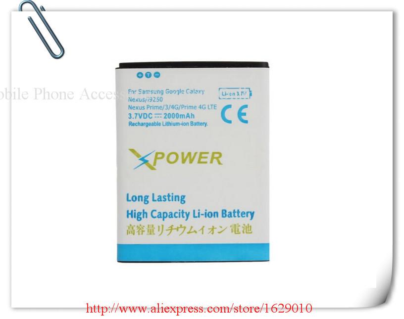 ( 5 pcs/lote ) OEM haute capacité batterie de téléphone portable Bateria 2000 mAh EB L1F2HVU pour Samsung Galaxy Nexus I9250 Nexus Prime Nexus 3(China (Mainland))