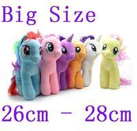 Big Size 6 Colors 2015 Fresh Plush Unicorn Horse Stuffed Animals Toys 30cm Baby Infant Girls Toys Birthday Gift Rainbow Dash