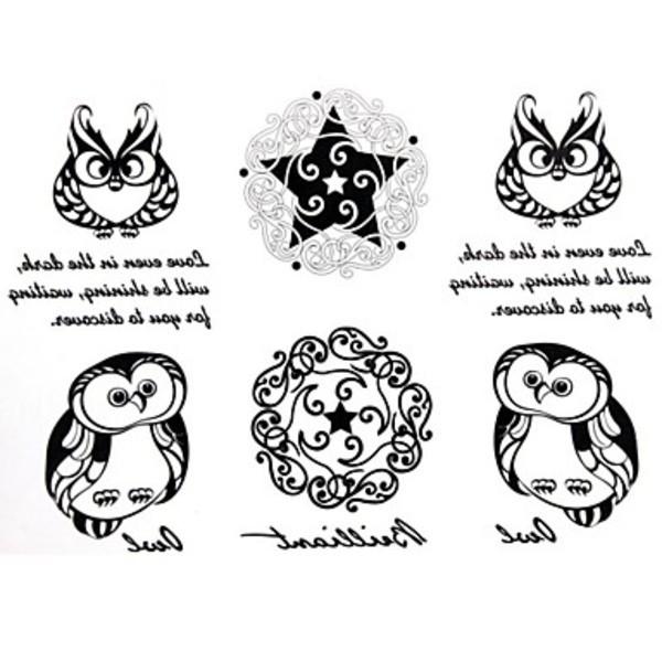 Roadmap 2Pcs Yimei Tattoo Stickers Waterproof Animal Series Women Girl Men Adult Boy Teen Black Owl Pattern 17cm*16cm(China (Mainland))