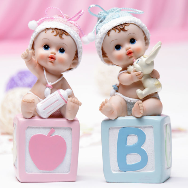 lovely baby letter fashion Doll ornaments Interior Accessories Articles birthday gift cake topper Desk ornaments(blue,pink)(China (Mainland))