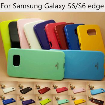 Для Samsung Galaxy S6 чехол крышка для Samsung Galaxy S6 края телефон чехол Origial меркурий Goospery шику жесткий кремния антидетонационных