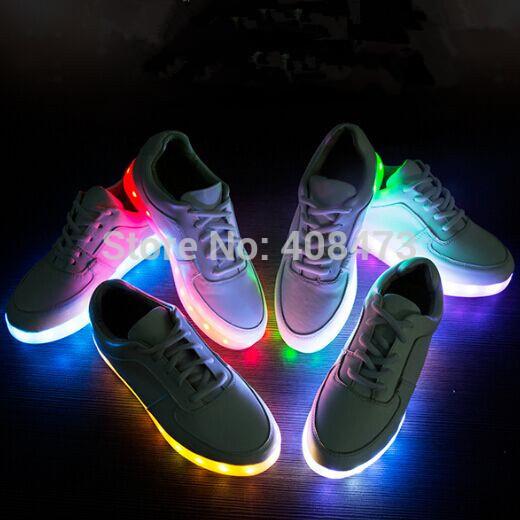 Женские кеды ENMAYER7ColorsLED USB LY-2015-4-20-sdsddsds женские кеды adv nce outlets 2015 usb zapatos led lighted shoes