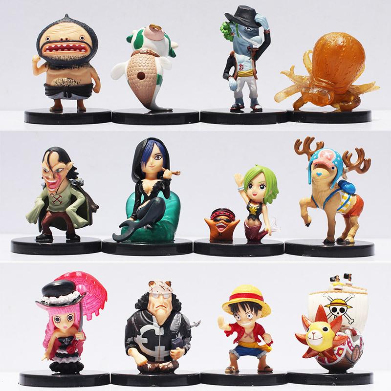 12pcs/set One Piece Luffy Chopper Perona Shyarly Keim PVC Doll Action Figure Toys Free Shipping(China (Mainland))