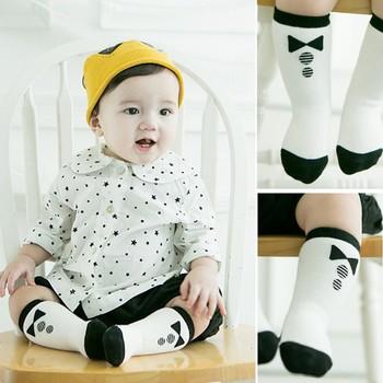 Детские носки детские носки хлопка дети колено высокие дышащие носки