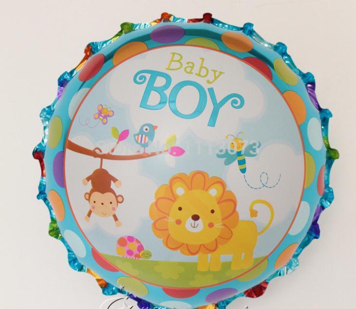 10 pçs/lote de bebé Animal Cartoon leões Pet balões da folha do bebê chuveiro da flor festa de aniversário criança decoração bebê 1 ano de aniversário(China (Mainland))