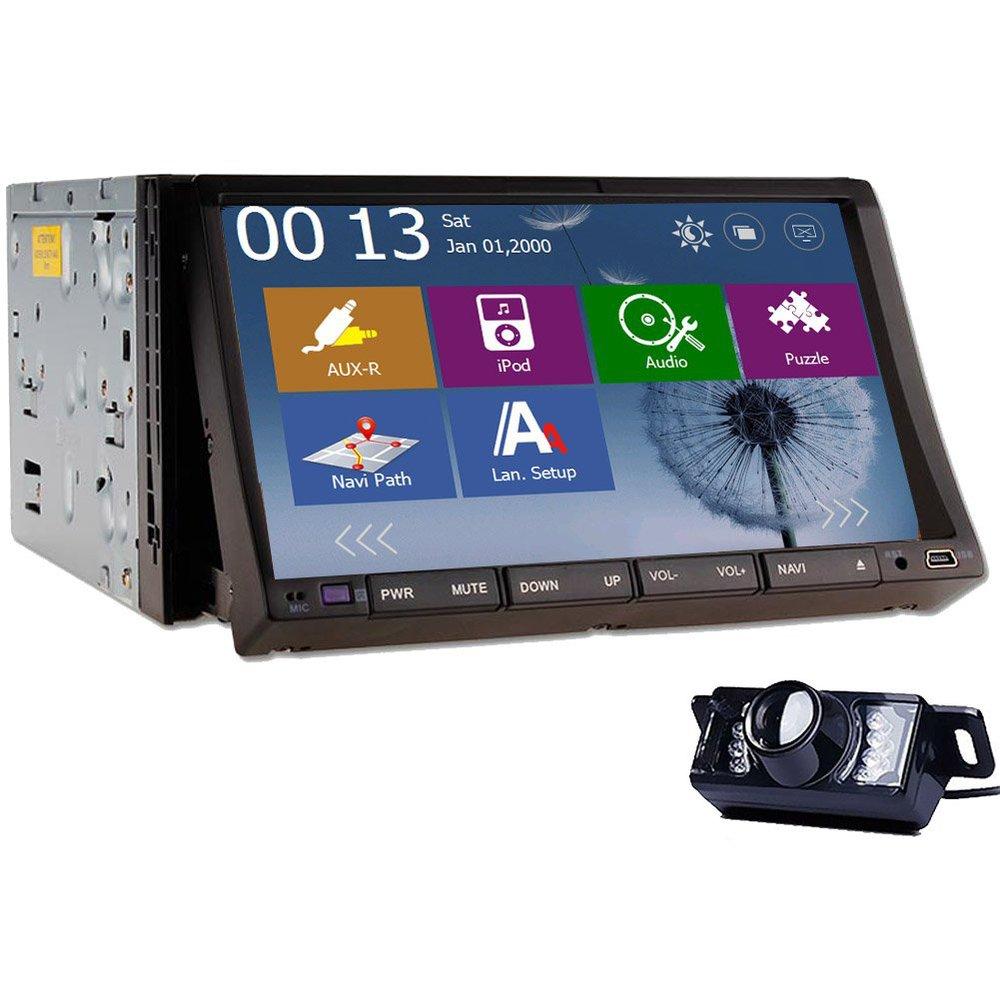 Win 8 GPS Navigator 7Inch HD Double 2 Din Car Audio Stereo Radio DVD Player Universal Car PC Bluetooth +Night Vision Rear Camera(China (Mainland))
