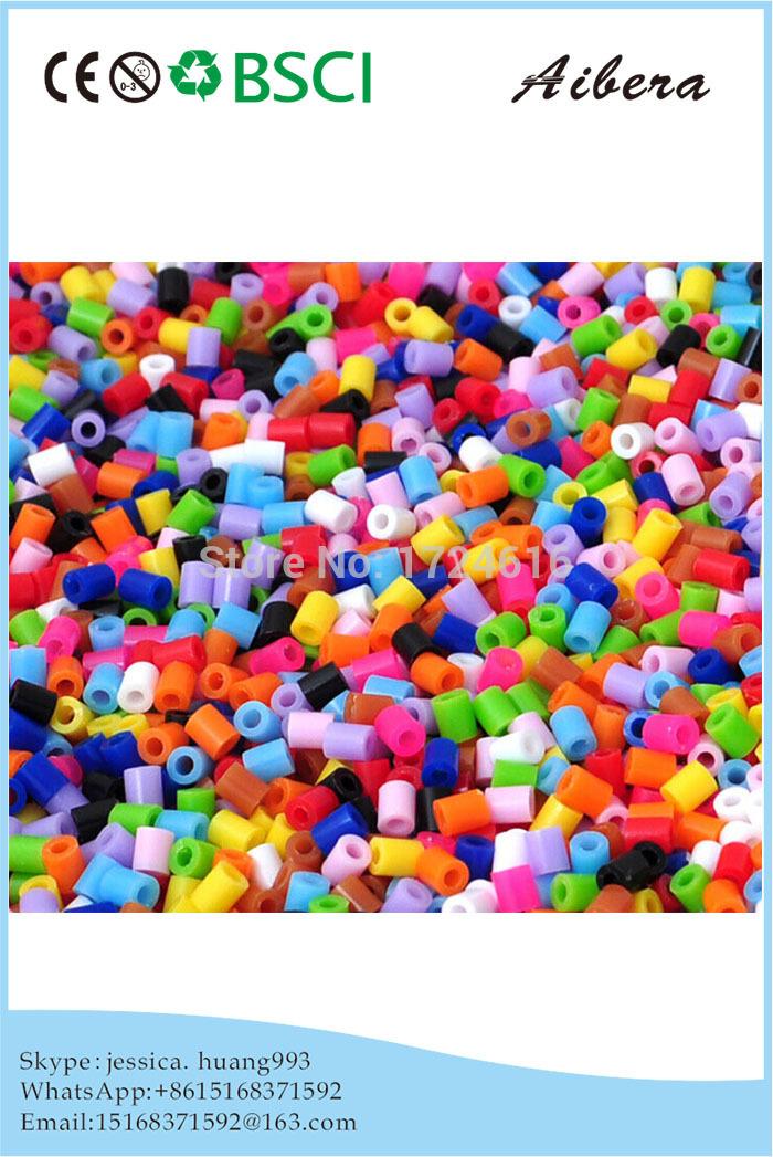 colorful funny puzzle Plastic 5mm mini DIY hama perler beads for Windbell(China (Mainland))